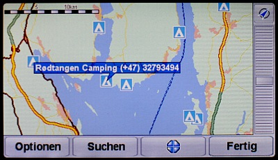 TomTom GPS Map with Campsites